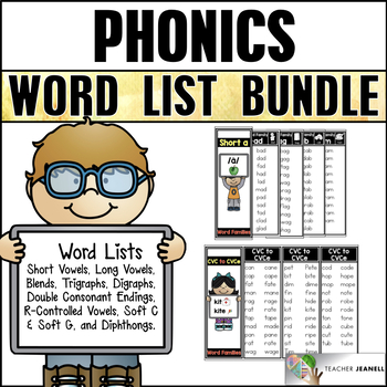 Word Lists and Placards (Year Long Bundle)