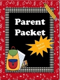 Fully Customizable Parent Packet Back to School Bundle