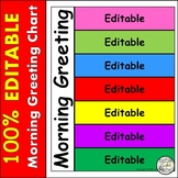 Morning Choices Morning Greeting Chart -Fully EDITABLE