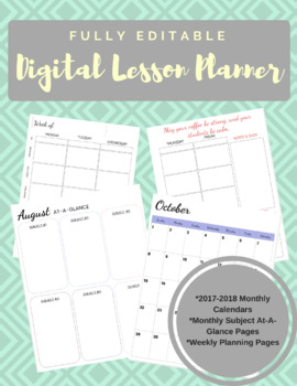 Fully Editable Digital Lesson Planner!
