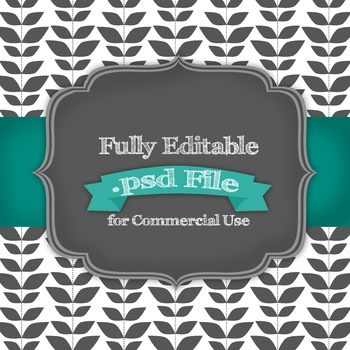 Fully Editable Leaf Lines .psd File for Commercial Use