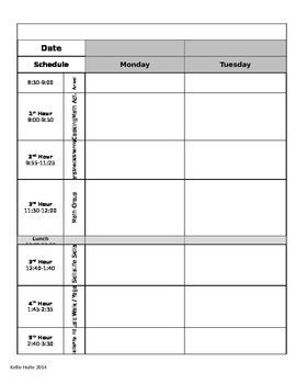 Fully Editable Lesson Plan Template