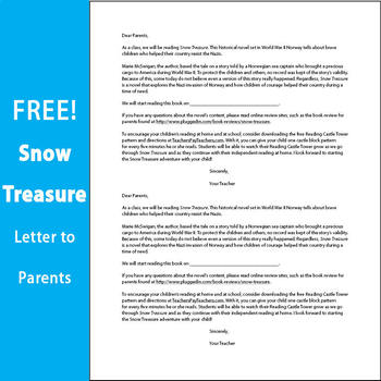 For Novels - Fully Editable Letters to Parents - FREE - Send Home Before Reading