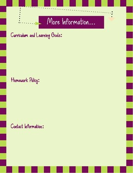 Fully Editable Meet the Teacher, Classroom Information Flyer