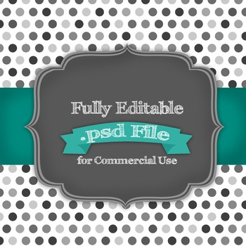 Fully Editable Multi Colored Polka Dots .psd File for Commercial Use