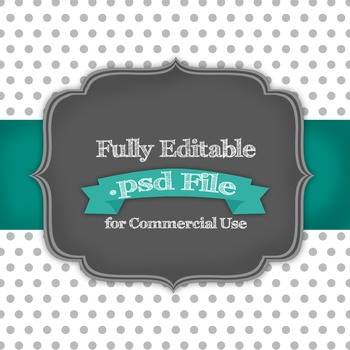Fully Editable Polka Dots .psd File for Commercial Use