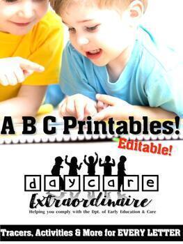 Fully Editable - Preschool Letters Activity Sheets - Letter Tracing