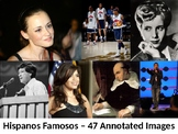 Fully Editable Slideshow of 47 Hispanos Famosos