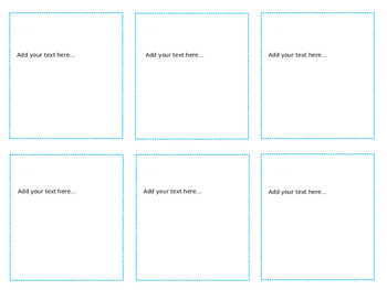 Fully Editable Task Card Template