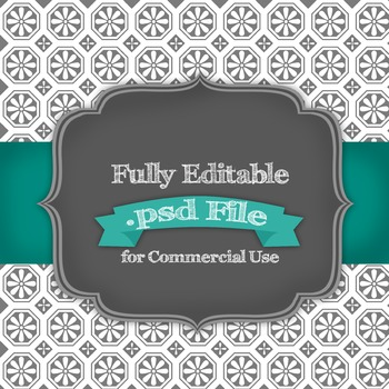 Fully Editable Wagon Wheel Floral .psd File for Commercial Use