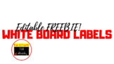 Fully Editable Whiteboard Labels