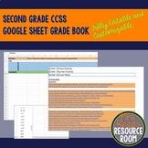Editable and Customizable Second Grade CCSS Google Sheet G