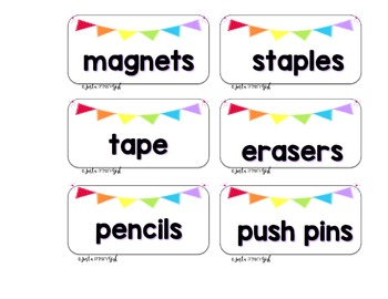 Teacher Toolbox Labels  - WHITE & {Editable}