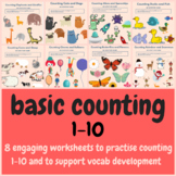Fun 1-10 Counting Worksheets, 8 Worksheets Included