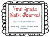 Fun 1st Grade Math Journal Perfect for differentiation and discussion