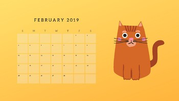 Fun 2019 calendar
