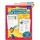 Fun 5-Minute Math Practice Pages
