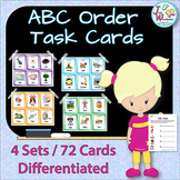 ABC Order Task Cards and Worksheets for Literacy Centers