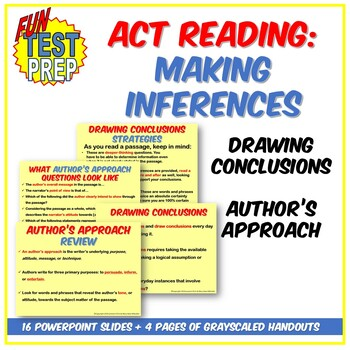 Fun ACT Making Inferences PPT: Drawing Conclusions and Author's Approach