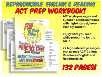 Fun ACT Prep English & Reading: Practice Tests Workbook 2nd ed.