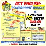 Fun ACT Prep English 4 PPT BUNDLE: Punctuation, Grammar, Structure, & Rhetoric