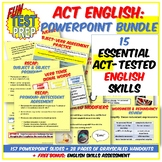 Fun ACT Prep English 4 PPT BUNDLE: Punctuation, Grammar, S