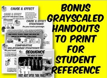 Fun ACT Prep Reading 3 PPT BUNDLE: Reading Basics, Inferences, & Relating Ideas