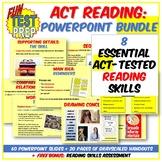 Fun ACT Reading 3 PPT BUNDLE: Reading Basics, Inferences, & Relating Ideas