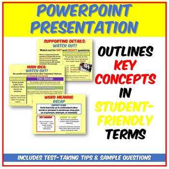 Fun ACT Reading Basics PPT: Main Idea, Supporting Details, and Word Meaning