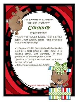 Fun Activities to accompany the Open Court story Corduroy by Don Freeman