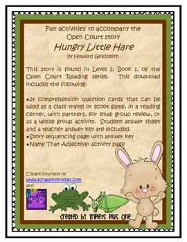 Fun Activities to accompany the Open Court story Hungry Little Hare