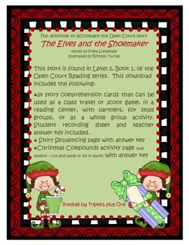 Fun Activities to accompany the Open Court story The Elves and the Shoemaker