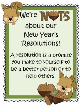 Fun Activities to accompany the book Squirrel's New Year's Resolution