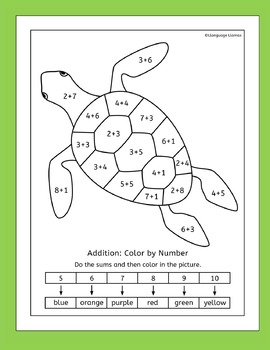 Color by Number, Addition and Subtraction