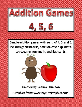 Fun Addition Games - Small Sums of 4, 5, 6
