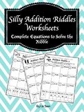 Fun Addition Riddles Worksheets