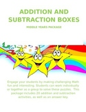 Fun Easy to Use Addition and Subtraction Boxes - Middle Ye