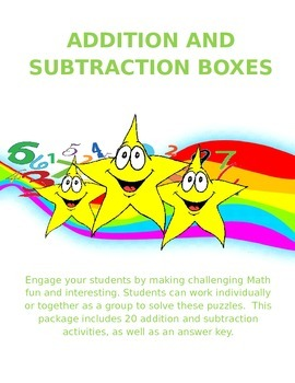 Fun Easy to Use Addition and Subtraction Boxes -  Early Ye