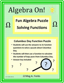 math worksheet : fun algebra puzzles  solving function problems by algebra on  tpt : Algebra Puzzles