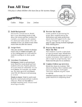Fun All Year (Leveled Readers' Theater, Grade 1)