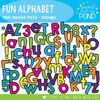 Fun Alphabet - Clipart For Teaching
