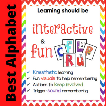 Fun Alphabet Flashcards (Colored) for teaching letters and sounds