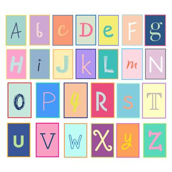 Fun Alphabet Letters { Digital Clip Art }