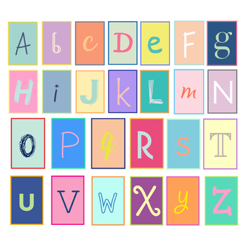Fun Alphabet Letters { Digital Clip Art }