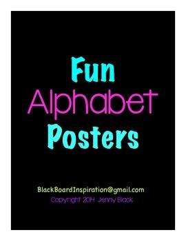 Fun Alphabet Posters {Black}