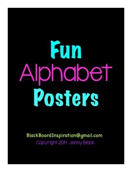 Fun Alphabet Posters {Black}