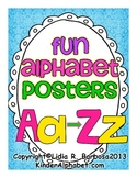 Fun Alphabet Posters to teach Beginning Sounds and Vocabul