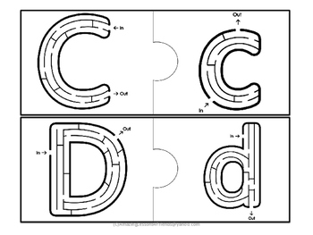 Fun Alphabet Puzzle Mazes and Tracing