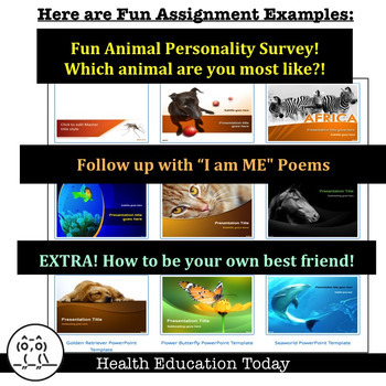 """Fun Animal Personality Survey and """"I am ME"""" Poems - FREE!"""