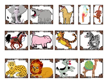 Fun Animal Safari Game printable freebie